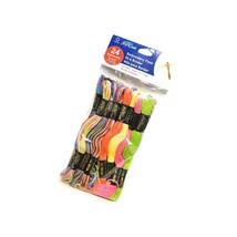 J & P 24 Skeins Of Embroidery Floss Yarn Tie-Dye - $19.99