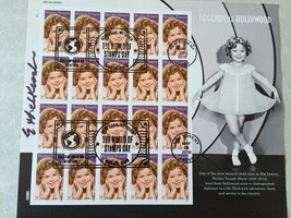 2016 Shirley Temple Stamp World Stamp Show Cancelled Full Pane of 20 *Si... - $18.69