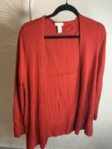 EUC Chicos Red Open Front Cardigan Size 1 Medium Rayon/Nylon (M) - $27.10