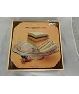 Indiana Glass Recollection Cake Pedestal 4503 Box - $9.95