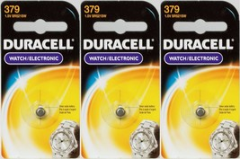 3 NEW Duracell 379 Button Coin Battery Silver Oxide 1.5 volt Watch/Calculator  - $10.88