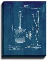 Spatula Patent Print Midnight Blue on Canvas - $39.95+