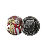 Silver Plated Coin Commemorative Coins Cute Dog Style Dog Year Collectio... - $5.50