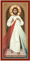 "Divine Mercy Icon 3"" x 6"" Prints With Lumina Gold - $19.95"