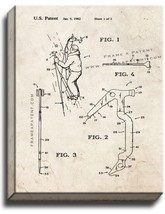 Ice Tool For Mountaineering Patent Print Old Look on Canvas - $39.95+