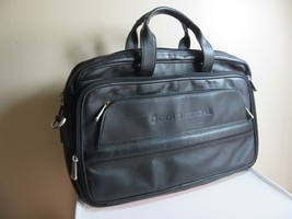Gold Medal black leather laptop, notebook carry case. Briefcase - $19.99
