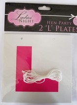 2 Hen Party Essential Pink Learner L PLATES Dress Up Girls Night Novelty... - $2.02