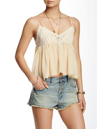 Free People Womens Sweet Lace Cami Tank Top Light Peach size XS $48 - $17.81