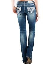 GRACE IN LA SALE Dark Plus Embellished Straight Stretch Jean 17,19,21 (3... - $54.97
