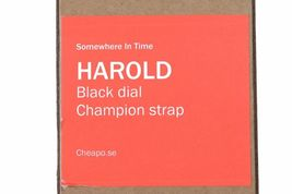 CHEAPO Chpo Harold Arc-en-Ciel Nylon Bracelet Cadran Noir 14224SS Analog Montre image 4