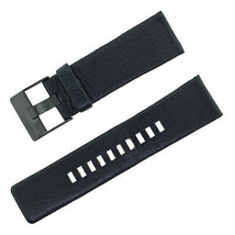 Diesel DZ4216 26-24mm Leather Black Men's Watch Band with Steel PVD Blac... - $44.99