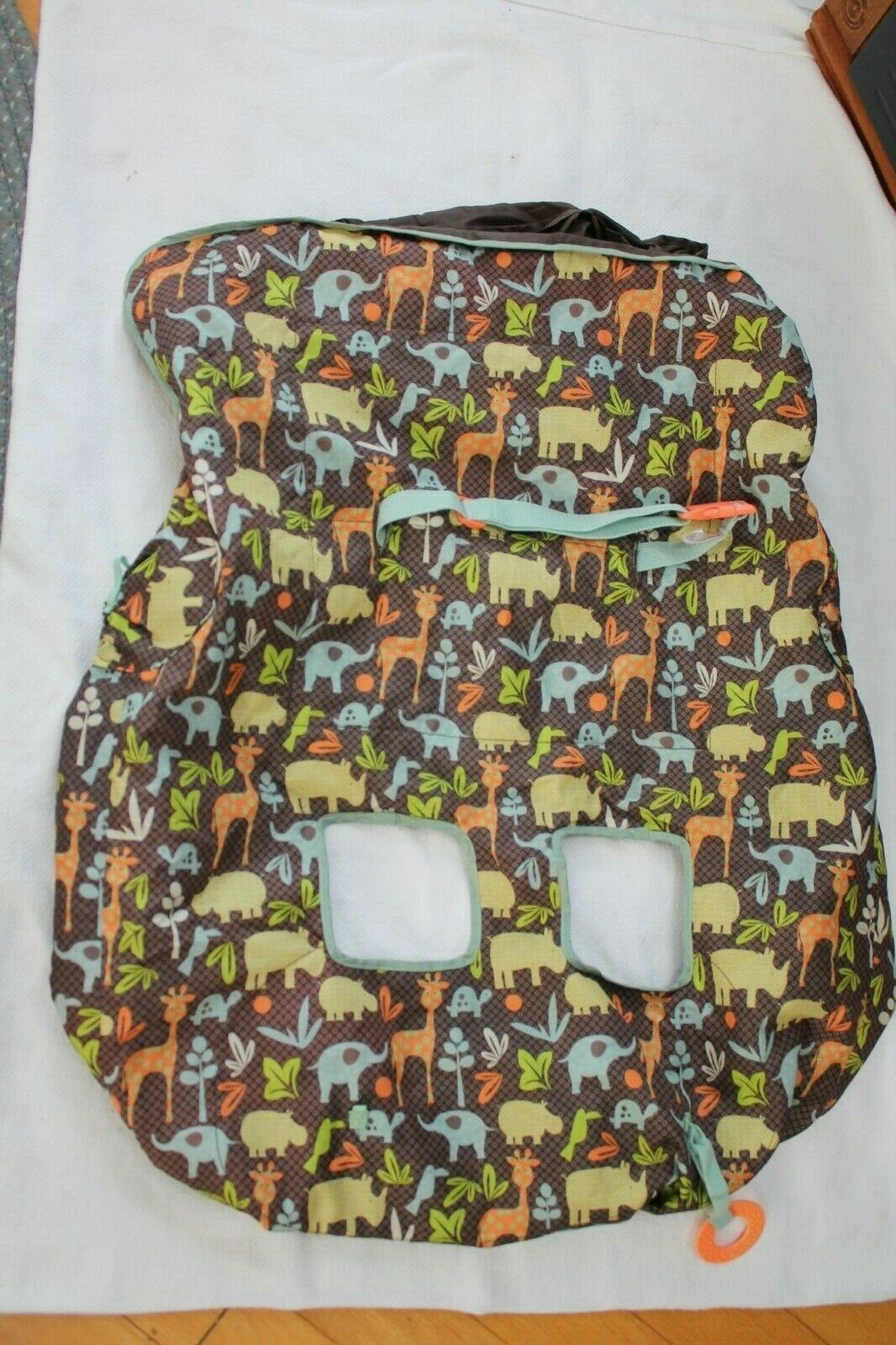 Primary image for Infantino Compact 2-in-1 Shopping Cart Cover, Neutral, Safari Print