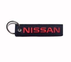 Nissan Black-Red Key Chain Fob Embroidered Key Locator - NEW - €13,54 EUR