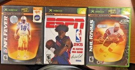 XBOX Lot of Three Games: NFL FEVER '04; NFL RIVALS '04; ESPN 2K5 - $9.49