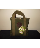 Dultuh Pack Olive Green Canvas Tote Book Bag NWT - $107.16