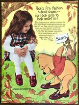 1970 Sears PRINT AD Pooh's Fit'n Fashion School Shoes Winnie Kanga - $10.89