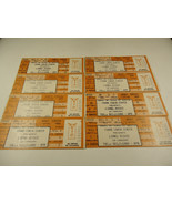 8 Lionel Richie Unscalloped Ticket Stubs 1986 Austin Texas Scalper loss ... - $29.70
