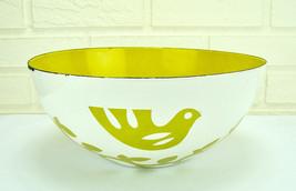 "11"" Mid-Century Modern Hanova Chaney Enamel Dove & Olive Branch Serving ... - $200.00"