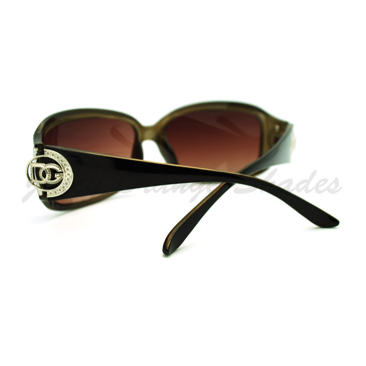 Womens Classic Designer Rectangular Frame Sunglasses