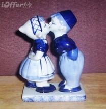 DUTCH POTTERY-- DELFT KISSING BOY-GIRL FIGURINE (#633) - $14.95
