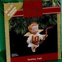 Hallmark Sparkling Angel Blinking Lights Keepsake Ornament QLX7157 - $5.93