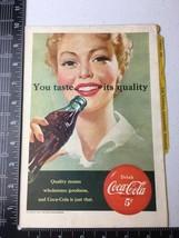 February 1951 Coca-Cola Coke Print Ad National Geographic - $7.80