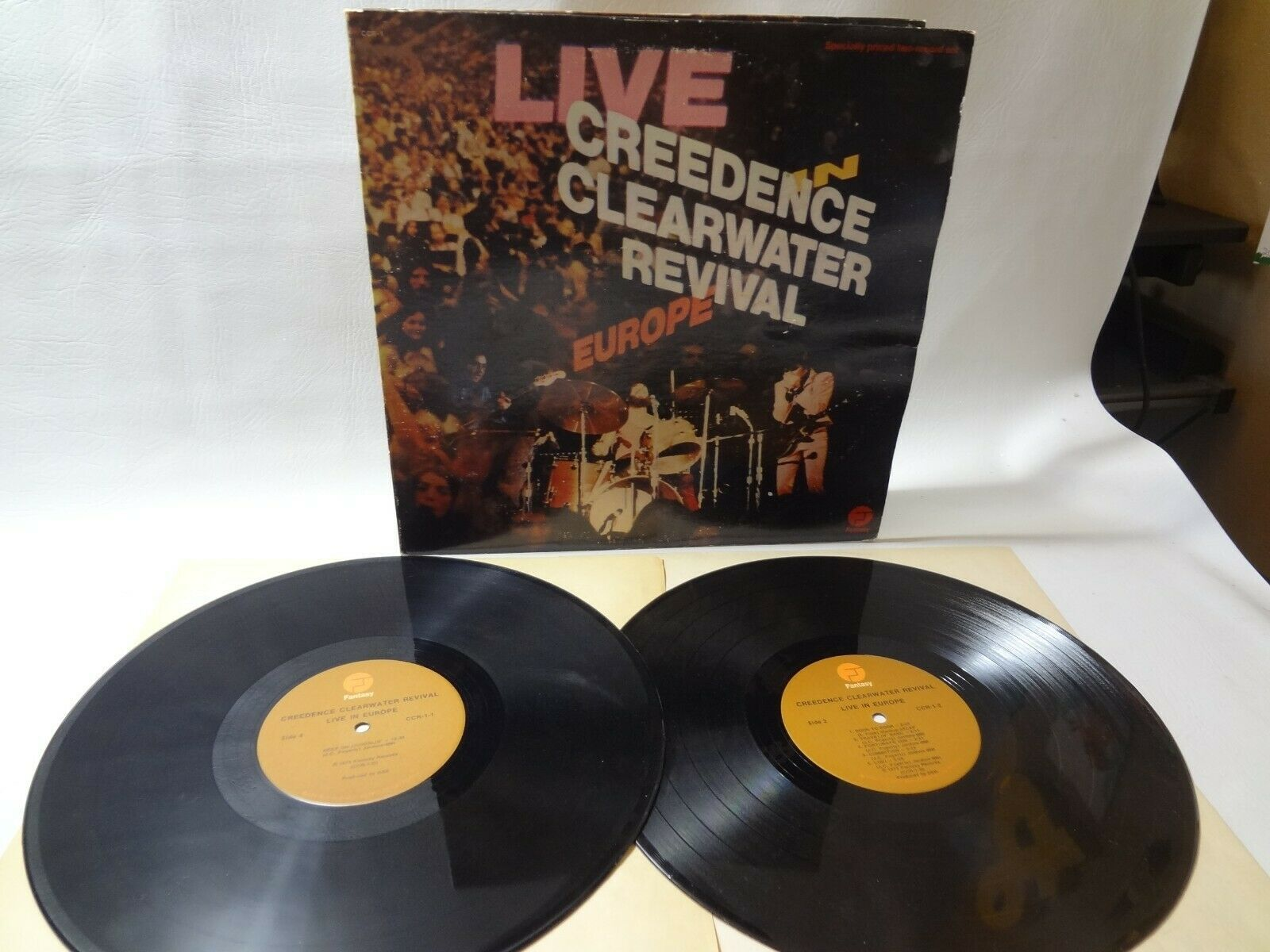 CREEDENCE CLEARWATER REVIVAL LIVE IN EUROPE double  record album LP