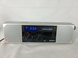 Vintage Sony EZ-7 AM FM Stereo Blue LED Digital Alarm Clock Radio Dream ... - $48.71