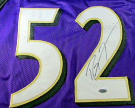 RAY LEWIS / HALL OF FAME / AUTOGRAPHED BALTIMORE RAVENS CUSTOM JERSEY / STEINER image 3