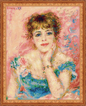 Cross Stitch Kit Riolis Portrait of Jeanne Samary after Pierre-August Re... - $52.00
