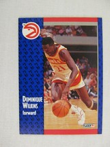 Dominique Wilkins Atlanta Hawks 1991 Fleer Basketball Card 6 - $0.98