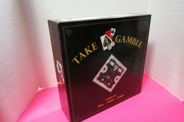 Take A Gamble Board Game Dice Poker Cards Game Is Complete In Original B... - $15.84