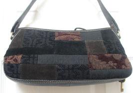 Fossil Signature Women's Hand Bag Top Zip Close BLACK/MULTI Patchwork Hobo New - $149.90