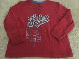Cherokee Boys Red Blue Football Vintage Long Sleeve Shirt Henley 3T - $5.00