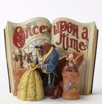 DISNEY TRADITIONS SHOWCASE Beauty and the beast Story book Figure 15.2x1... - $237.59