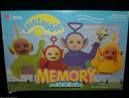 1998 TELETUBBIES MEMORY CARD MATCHING GAME IN BOX 100% COMPLETE MILTON B... - $17.77