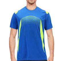 Men's Gym Workout Sport Two Tone Running Performance Quick-Dry T-shirt image 5