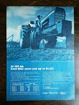 Vintage 1969 Ford Blue-Key 8000 Farm Tractor Full Page Original Ad - $5.98