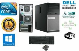Dell Computer Tower Pc Desktop i7 4th 3.4GHz 16GB 1TB Win 10 Pro 64 Nvidia 600 - $417.66
