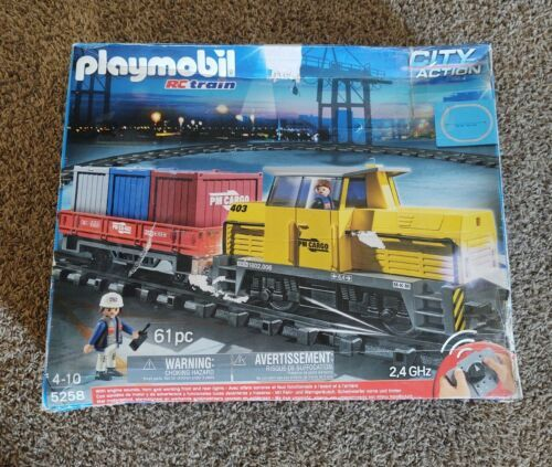 Playmobil RC Train Set 5258 + Motorized Cargo Loading Crane & accessories - $435.38