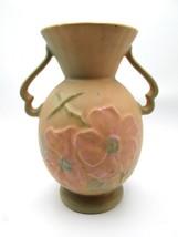"""Vintage Weller """"Wild Rose"""" 10"""" Double Handled Vase - $42.75"""