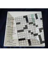 New York Times Crossword Puzzle FISH EDDY Sandwich Plates Set of 4 - $21.95