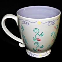 Grande 2003 Starbucks Barista Hand Painted Footed Pedestal Coffee Mug Cup 16 oz - $33.99
