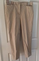 Jaclyn Smith Womens Capri Cropped Pants Size 6 beige khaki tan - $13.96