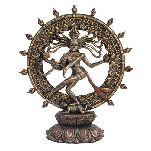 Hindu Shiva Nataraja Dancing Statue Bronze Finished - $38.60