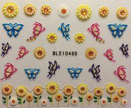 BANG STORE Nail Art 3D Decal Stickers Sunflowers Daisies Butterflies Daisy  - $3.67