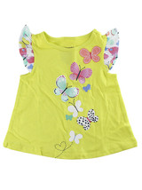 First Impressions Baby Girls Butterfly Flutter-Sleeve Yellow T-Shirt - $9.00