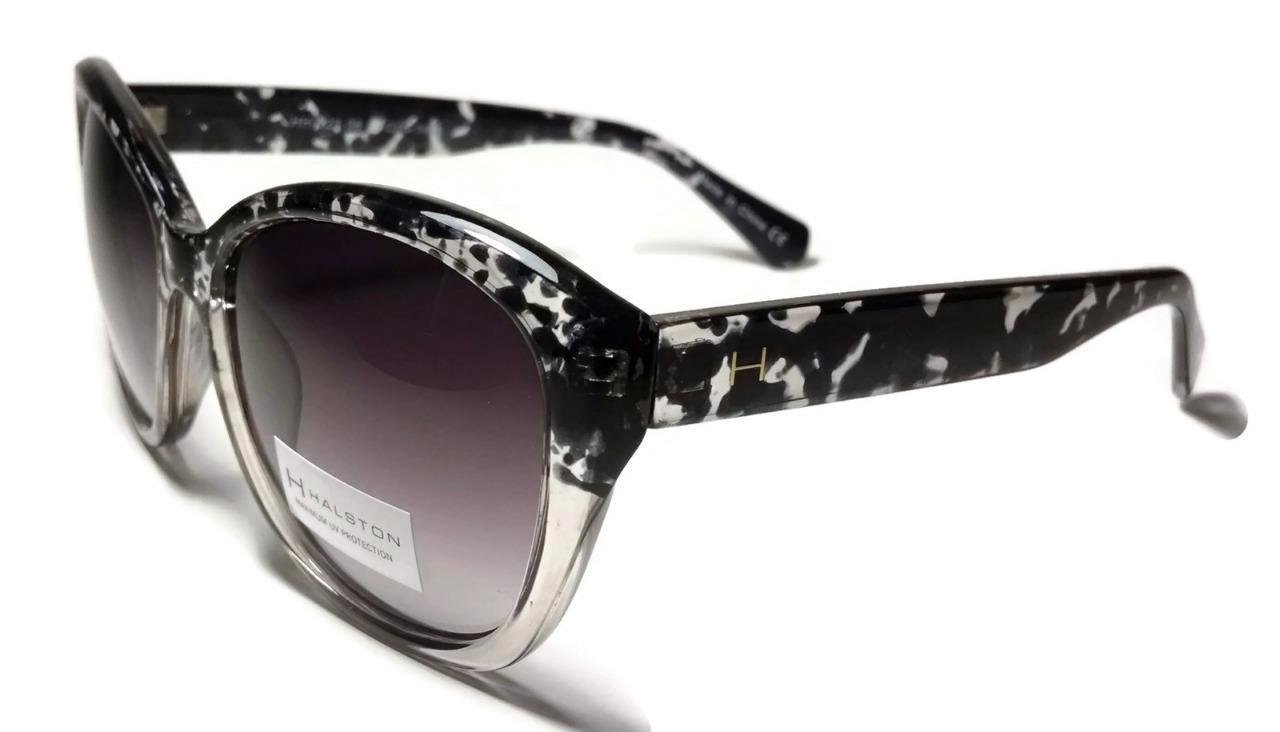 NEW HALSTON Black Clear Stone Designer Sunglasses Shades HH123 - $30.39