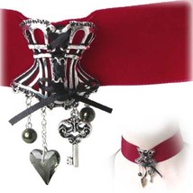 SteamPunk Cosplay Gothic Victorian St. Cyr's Delight Pewter Corset Choke... - $53.20