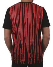 Dope Couture Homme Noir Rouge Sang Débordement Peinture Drip Graphique Pull Nwt image 2